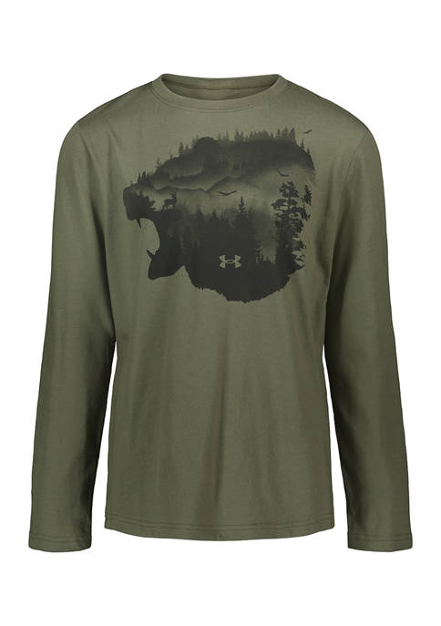 Under Armour® Boys 4-7 Long Sleeve Grizzly Graphic