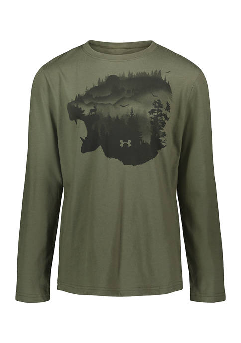 Boys 8-20 Long Sleeve Marine T-Shirt