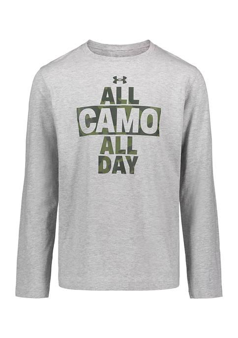 Boys  8-20 Long Sleeve Camo All Day T-Shirt