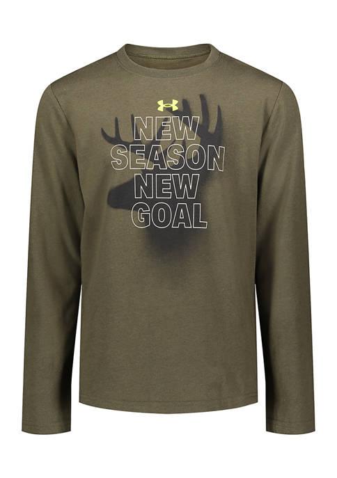 Under Armour® Boys 8-20 Long Sleeve Marine T-Shirt