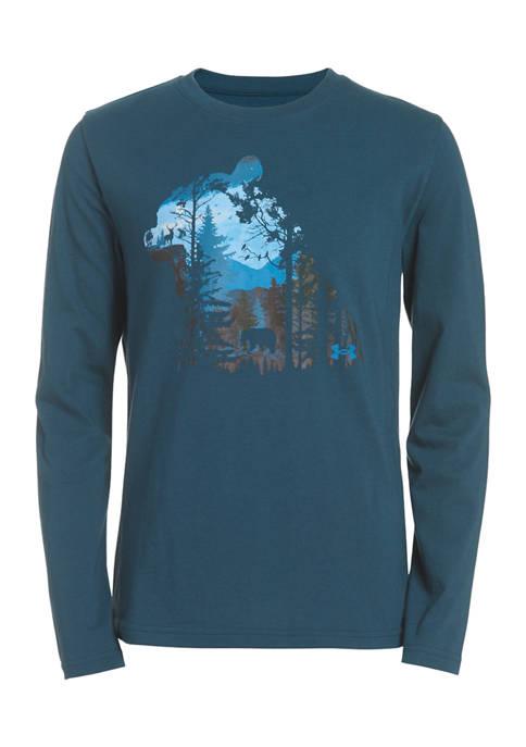 Under Armour® Boys 8-20 Nature Wordmark Graphic T-Shirt