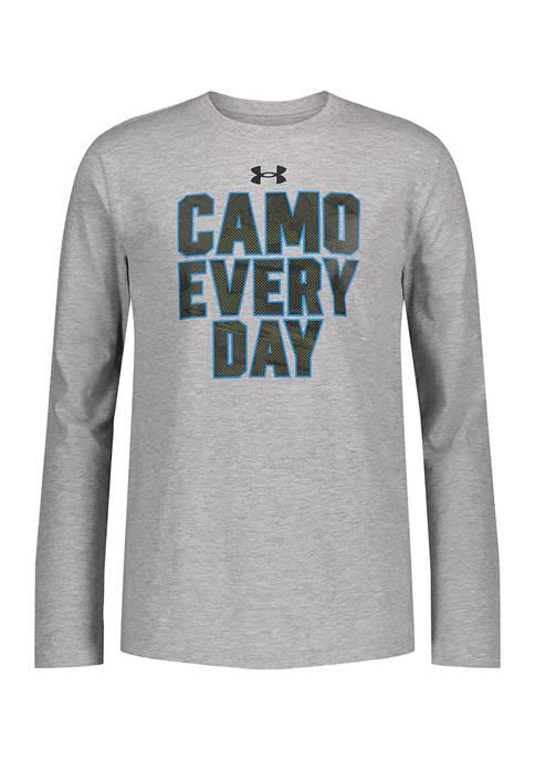 Under Armour® Boys 8-20 Long Sleeve Camo Graphic