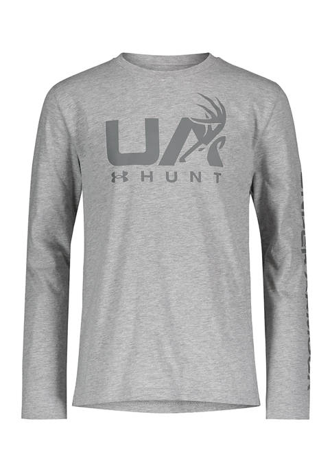 Under Armour® Boys 8-20 Antler Long Sleeve Graphic