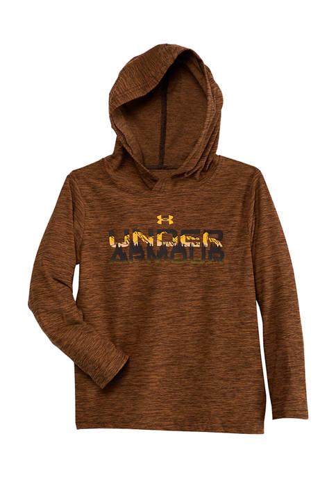 Under Armour® Boys 4-7 Long Sleeve Twisted Logo