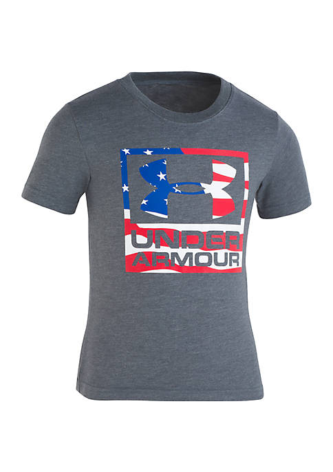 Under Armour® Boys 2-7 Flag Wordmark Icon Shirt