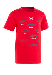 Under Armour® Boys 4-7 Fish Short Sleeve T Shirt