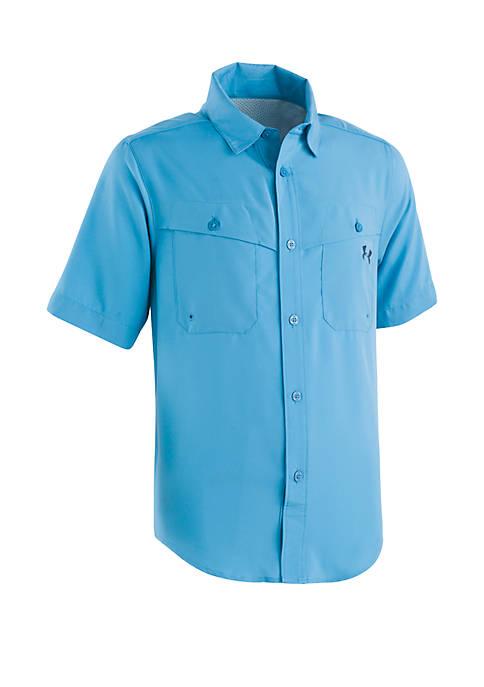 Boys 4-7 Mesh Button Up Shirt