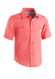 Under Armour® Boys 4-7 Mesh Button Up Shirt