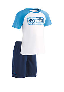 Under Armour® Toddler Boys Fish Top and Shorts Set
