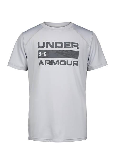 Under Armour® Boys 4-7 Short Sleeve Logo T-Shirt