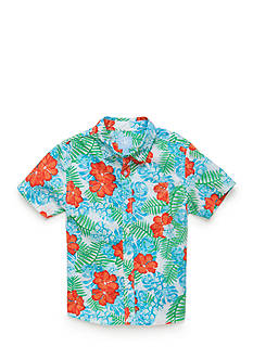 J. Khaki® Printed Woven Button-Front Shirt Boys 4-7