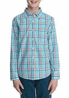J. Khaki® Plaid Woven Button Down Shirt Boys 8-20