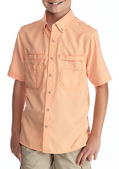 J. Khaki® Woven Button-Front Fishing Shirt Boys 8-20