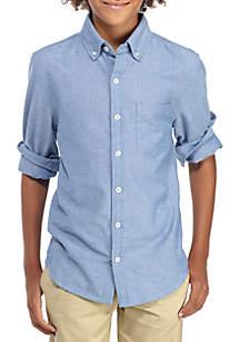 Long Sleeve Woven Chambray Shirt Boys 8-20