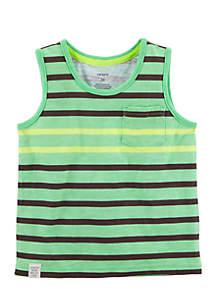 Neon Striped Tank Top Boys 4-7