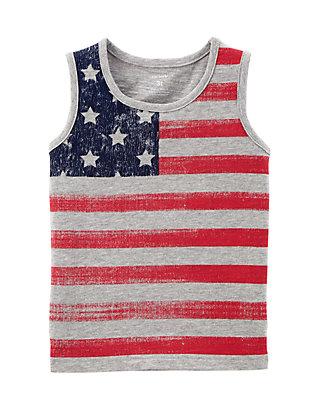 Carters Little Boys American Flag Tank Top