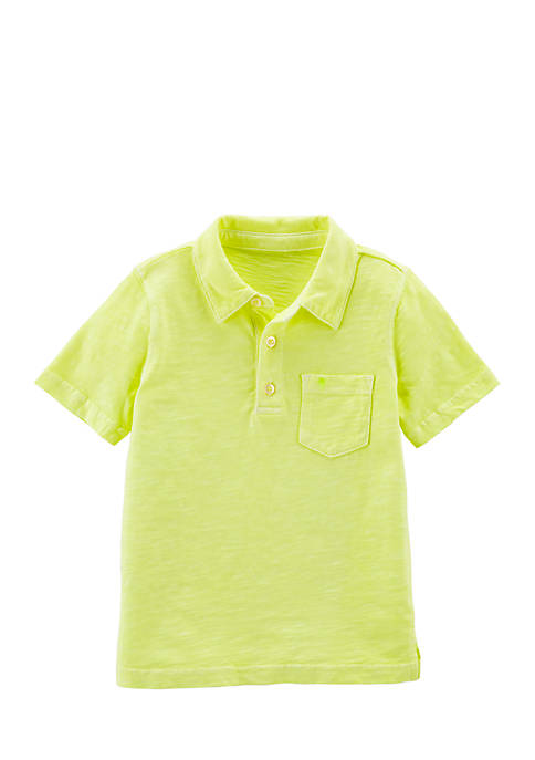 Carter's® Boys 4-8 Neon Garment-Dyed Slub Jersey Polo