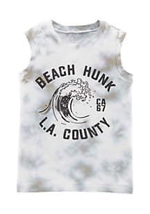Boys 4-8 Garment-Dyed Beach Hunk Tank