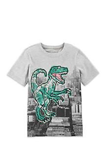 Boys 4-7 Dino Building Short Sleeve Tee