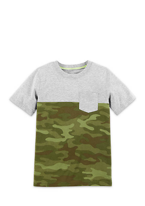 Carter's® Boys 4-7 Green Camo Short Sleeve Tee