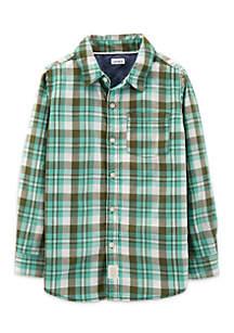 Toddler Boys Short Sleeve Woven Shirt