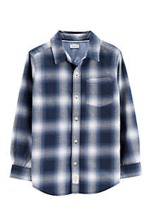 Boys 2-7 Plaid Woven Shirt