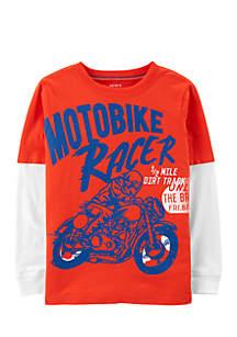 Boys 2-7 Motorcycle 2Fer Tee