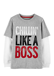 Boys 4-7 Chill'N Like A Boss Layered-Look Tee