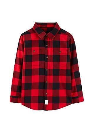 f74b1949d09df5 Carter s® Boys 4-7 Red Buffalo Check Twill Button-Front Shirt