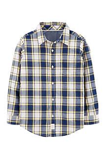 Boys 4-7 Plaid Soft Wash Button-Front Shirt