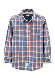 Carter's® Boys 4-8 Plaid Woven Button Front Shirt