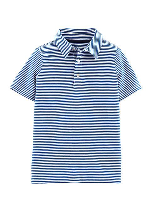 Boys 4-7 Striped Short Sleeve Polo