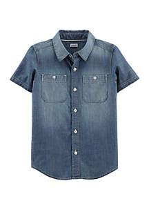 Carter's® Boys 4-7 Chambray Button Front Shirt