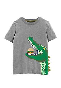 Carter's® Boys 4-7 Alligator Hamburger Slub Jersey Tee