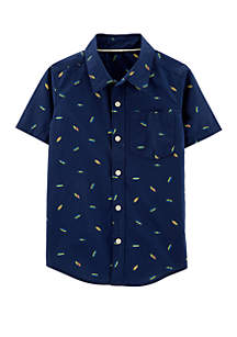 Carter's® Boys 4-7 Shooting Stars Poplin Button Front Shirt