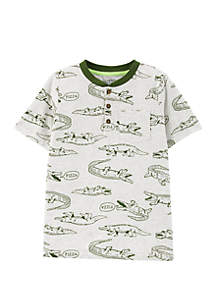 Carter's® Boys 4-7 Alligator Pocket Henley Shirt
