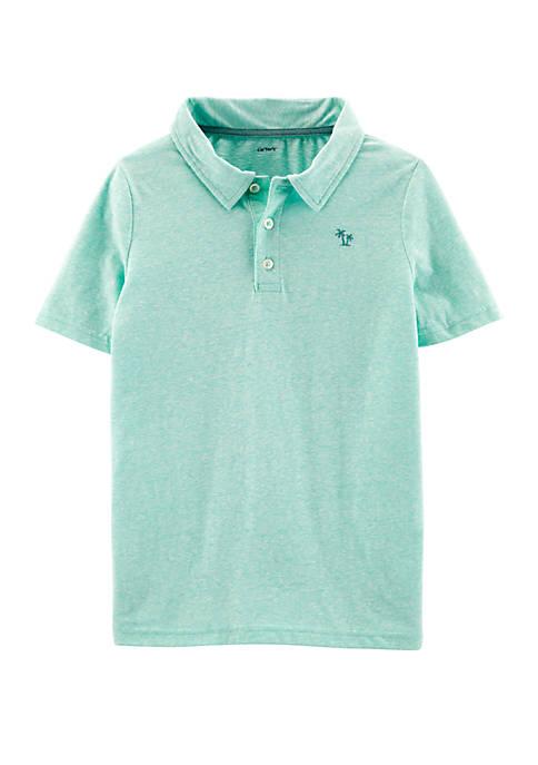 Boys 4-7 Snow Yarn Polo Shirt
