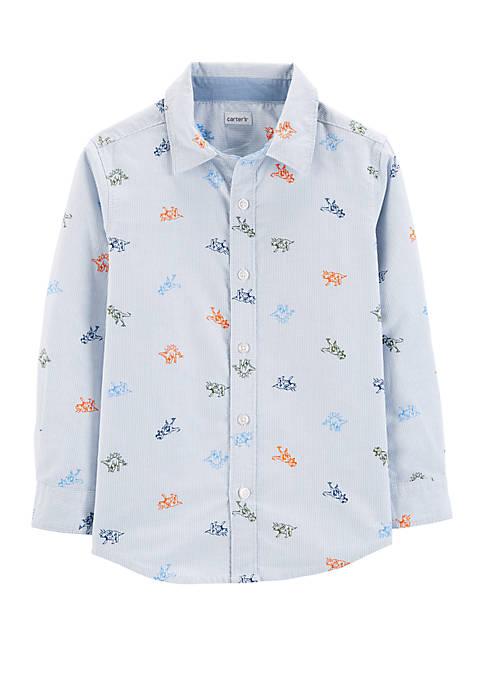 Carter's® Boys 4-7 Dinosaur Oxford Button-Front Shirt