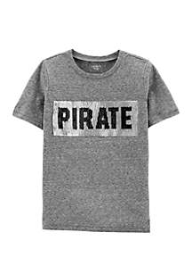 Carter's® Toddler Boys Flip Sequin Surfer Pirate Snow Yarn Jersey Tee