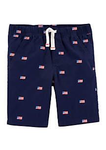 Carter's® Boys 4-7 4th Of July Easy Pull On Poplin Shorts
