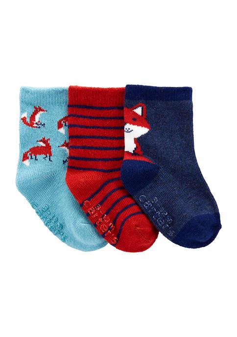 Carter's® Toddler Boys 3-Pack Fox Socks