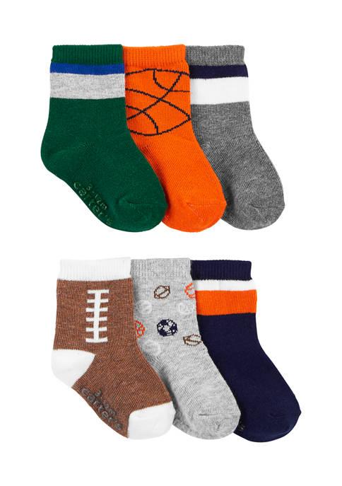 Carter's® Boys 6-Pack Sports Socks