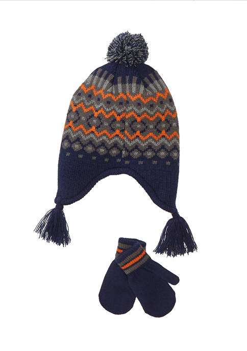 Toddler Boys Hat and Glove Set