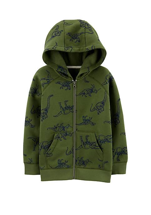 Carter's® Boys 4-7 Dinosaur Zip Up Fleece Lined