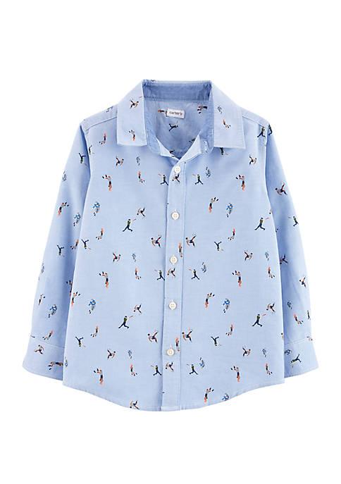 Carter's® Boys 4-8 Sports Oxford Button Front Shirt
