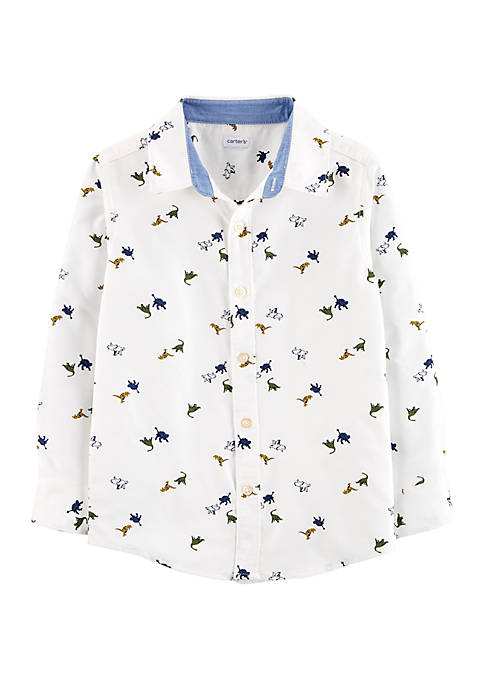 Carter's® Boys 4-8 Dinosaur Oxford Button Front Shirt