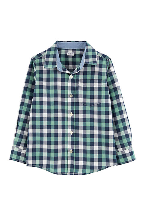 Carter's® Boys 4-8 Plaid Button Front Shirt