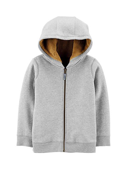 Carter's® Boys 4-7 Zip Up Fleece Lined Hoodie