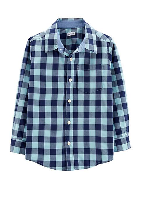 Carter's® Boys 4-8 Plaid Poplin Button Front Shirt