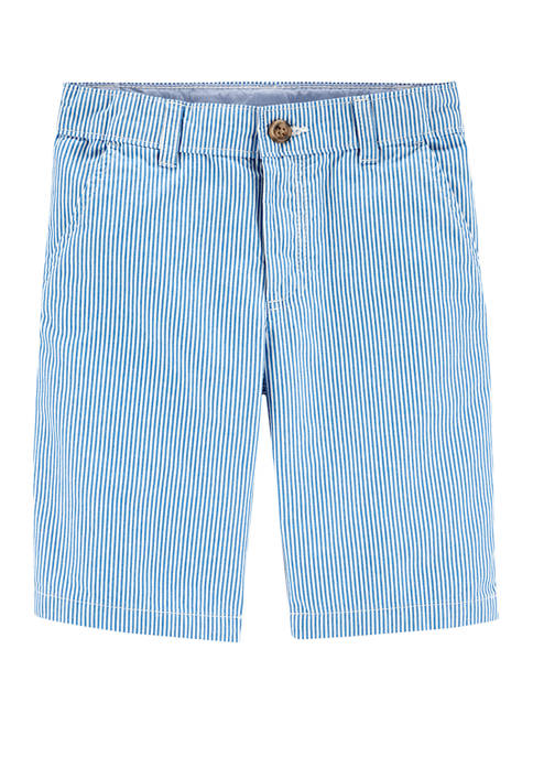 Carter's® Boys 4-7 Plaid Flat Front Shorts
